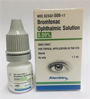 Bromfenac Sodium Solution/Drops;Ophthalmic