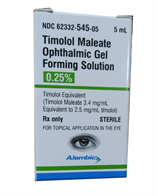 Timolol maleate Ophthalmic Gel forming solution 0.25%